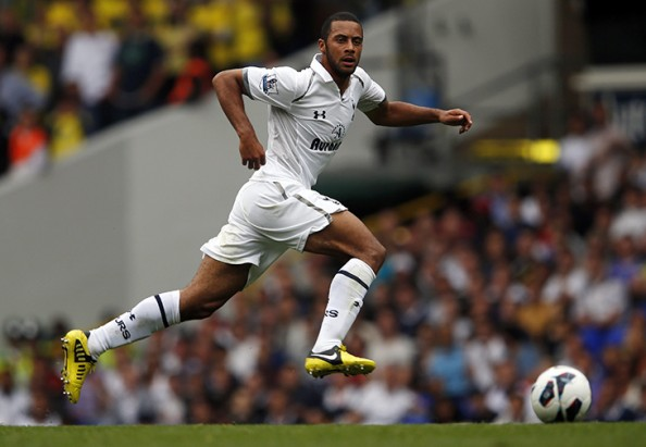 Tottenham Hotspur's Dembele runs with the ball during their English Premier League soccer match against Norwich City at White Hart Lane in London