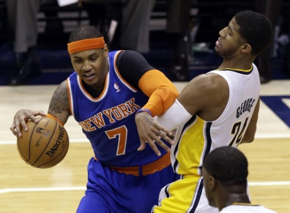 Paul George Defense on Carmelo Anthony