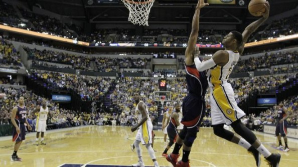 Paul George Dunk e1369316680764 Most NBA Playoff Triple Double Games in the Last Decade