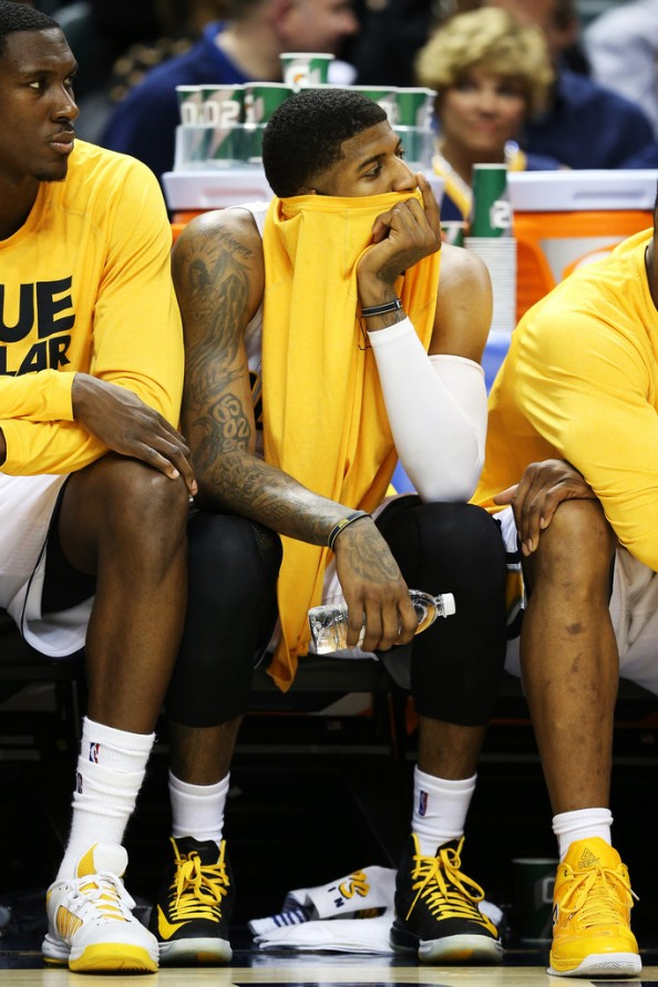 Paul George on the Bench