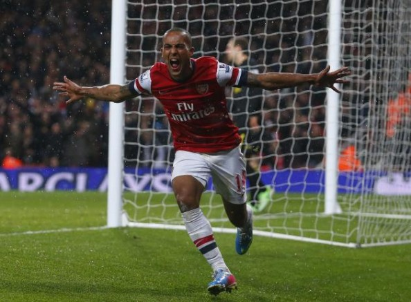 He might not be a striker, but Theo Walcott, having a record year in terms of scoring (14 goals) will end up as Arsenal's top scorer this season