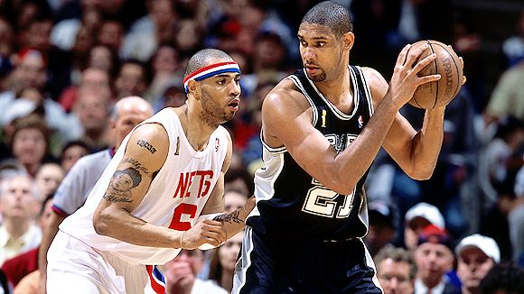 Tim Duncan 2003 Most NBA Playoff Triple Double Games in the Last Decade