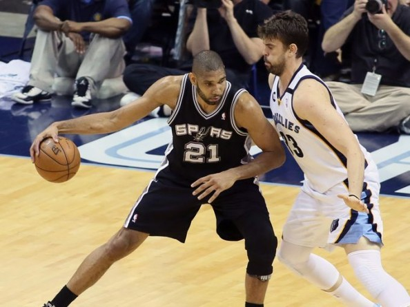 Tim Duncan vs Marc Gasol