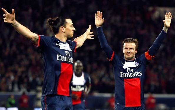Zlatan Ibrahimovic, David Beckham