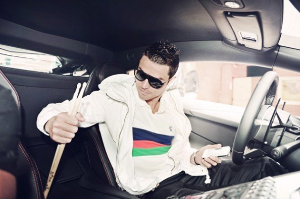 Cristiano Ronaldo in the car e1372496835375 Lionel Messi & Cristiano Ronaldo   The Not So Quiet Summer