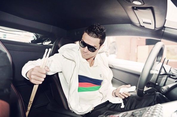 Cristiano Ronaldo in the car