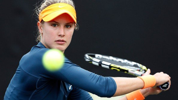 Focused Bouchard e1372329347124 Eugenie Bouchard, The New Sexiest Tennis Player