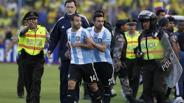 Javier Mascherano Sent Off