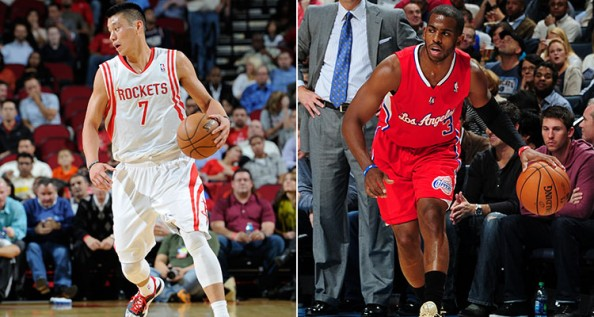 Jeremy Lin Chris Paul e1370869813106 Houston Rockets   Jeremy Lin Might be Traded if Chris Paul Arrives