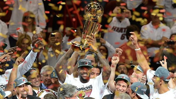 LeBron James champion 2nd time