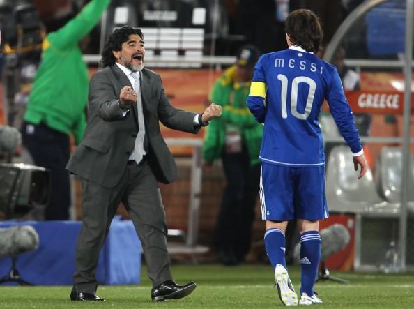 Maradona, Messi