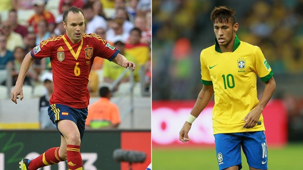 Neymar, Andres Iniesta