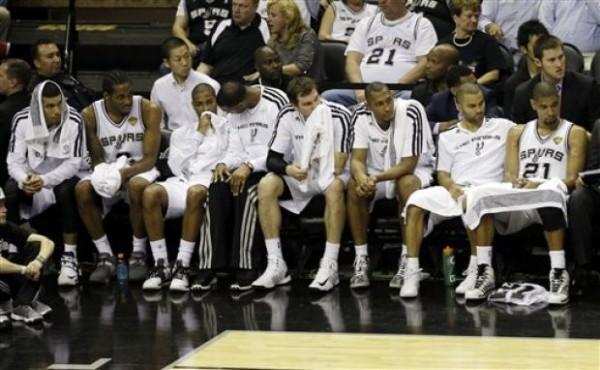 Spurs Depressed Looking bench