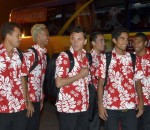 Tahiti footballers tourists