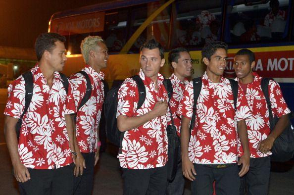 Tahiti footballers tourists