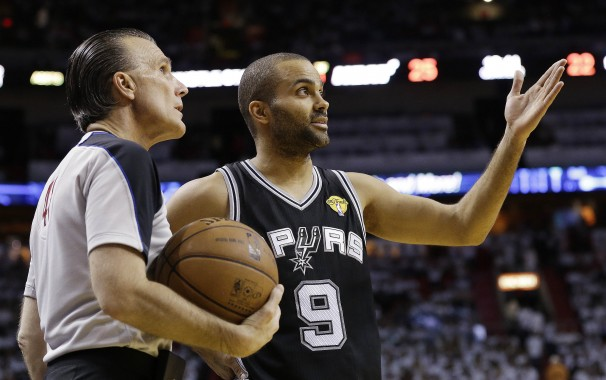 Tony Parker hoping the referees might be able to save them on a night he and his partners weren't up for the challenge in the second half
