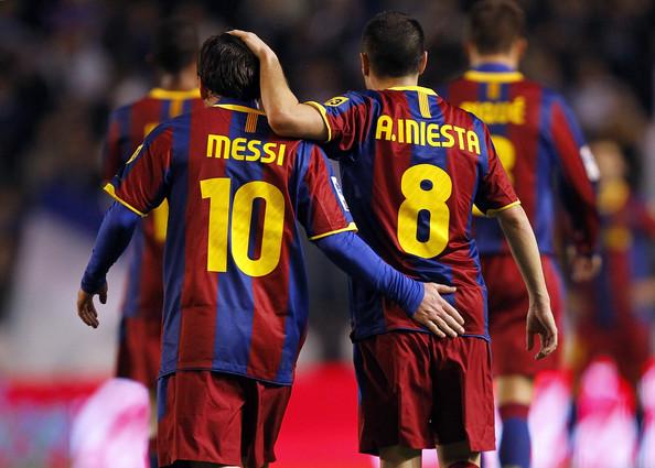 Andres Iniesta, Lionel Messi