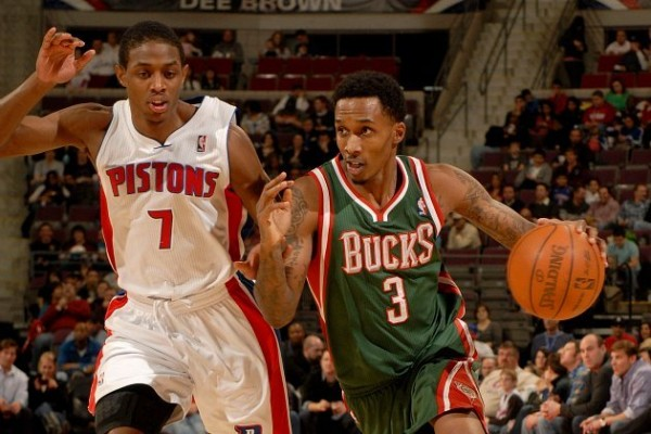 Brandon Jennings vs Pistons e1375272885282 Detroit Pistons   Brandon Jennings Might Make Them Into More Than a Borderline Playoff Team