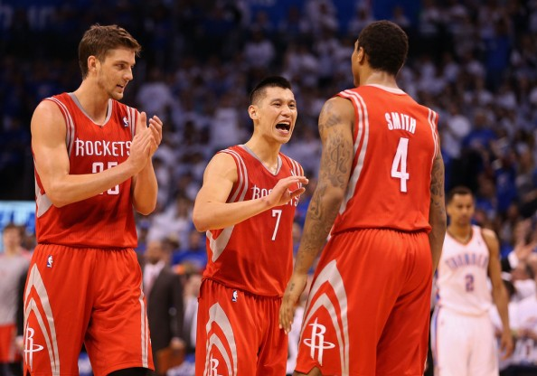 Chandler Parsons, Jeremy Lin, Greg Smith