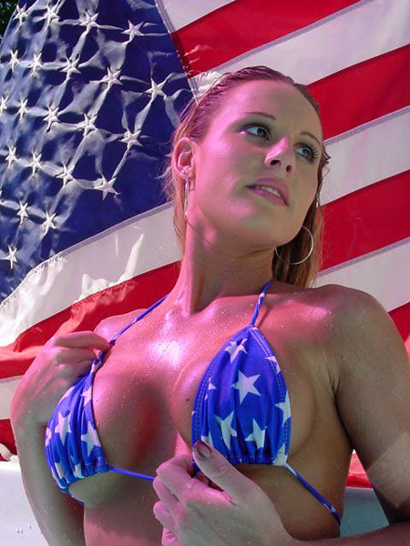 Flag + Bikini Hottest Girls in American Flags & Bikinis