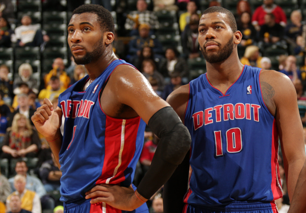 Greg Monroe Andre Drummond Detroit Pistons   Brandon Jennings Might Make Them Into More Than a Borderline Playoff Team