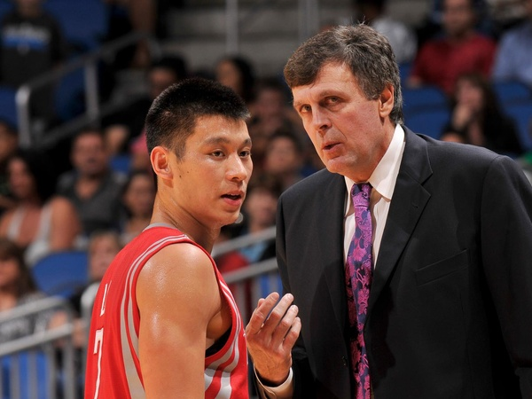 Jeremy Lin With Kevin McHale