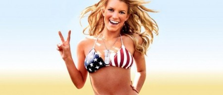 Jessica Simpson e1372950734213 Hottest Girls in American Flags & Bikinis
