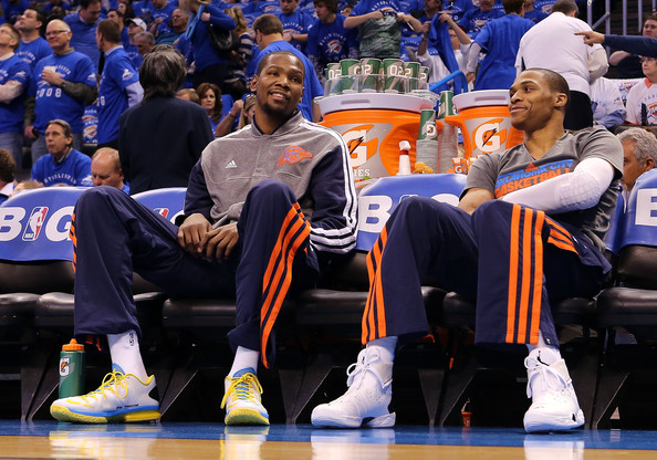 Kevin Durant, Russell Westbrook, Thunder