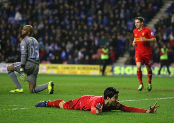 Luis Suarez Celebrating a Goal