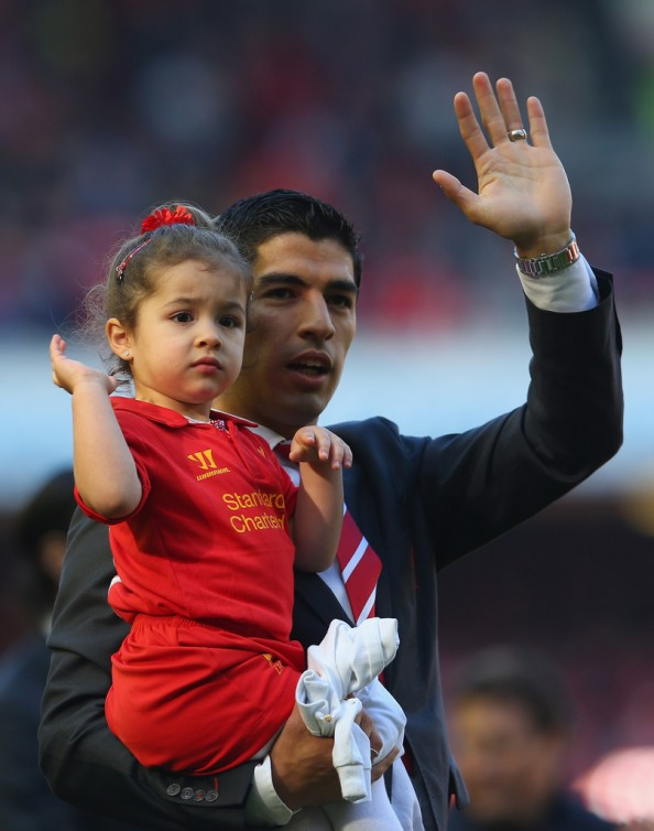 Luis Suarez & Daughter