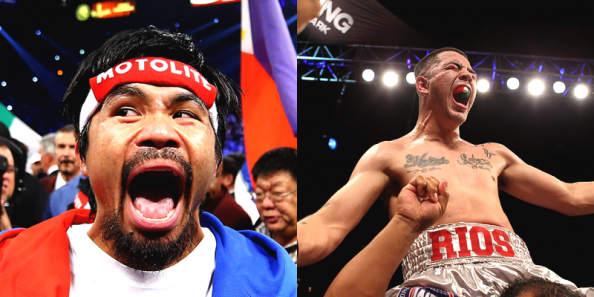 Pacquiao Rios e1373983799796 Manny Pacquiao   A Fight to Stay Relevant & Save a Career