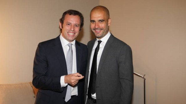 Pep Guardiola, Sandro Rosell