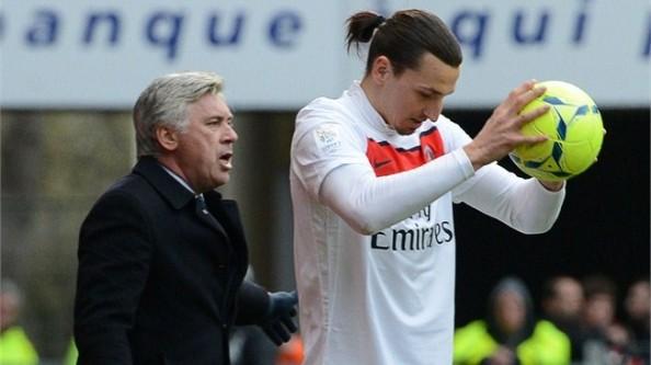 Zlatan Ibrahimovic, Carlo Ancelotti