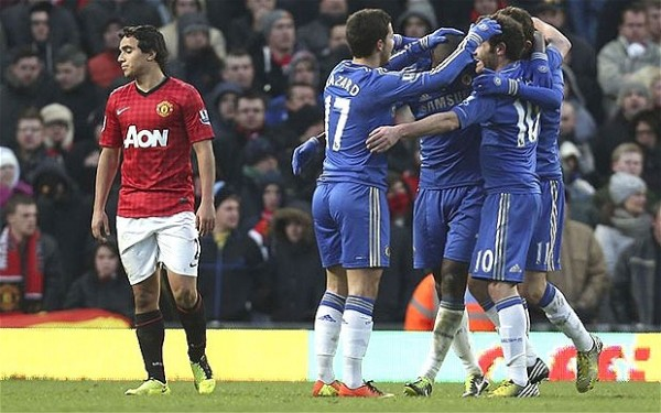 Chelsea Celebrating vs United