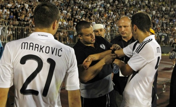 Partizan ultra emasculated his clubs captain, stripped him of his armband after CL defeat