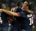 Zlatan Ibrahimovic hugging youngsters