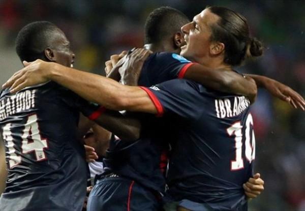 Zlatan Ibrahimovic hugging youngsters