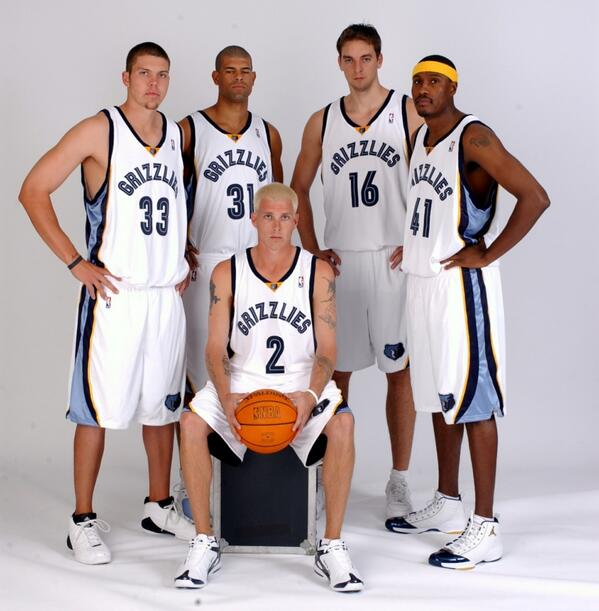 Young Grizzlies - Mike Miller, Shane Battier, Pau Gasol, James Posey, Jason Williams
