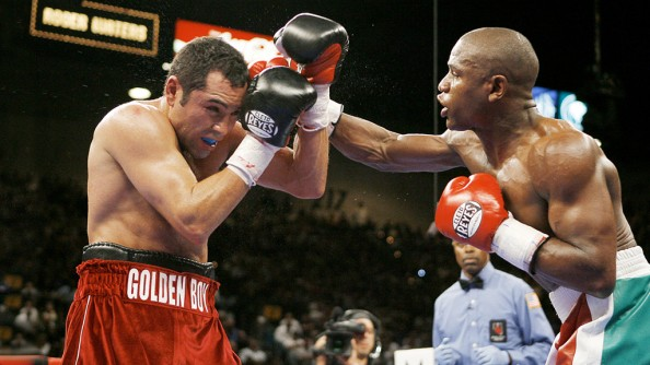 De La Hoya vs Mayweather e1379774330905 Most Watched PPV Fights in Boxing History