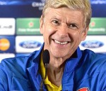 Happy Arsene Wenger