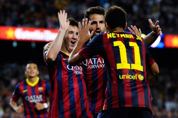 Messi, Fabregas, Neymar
