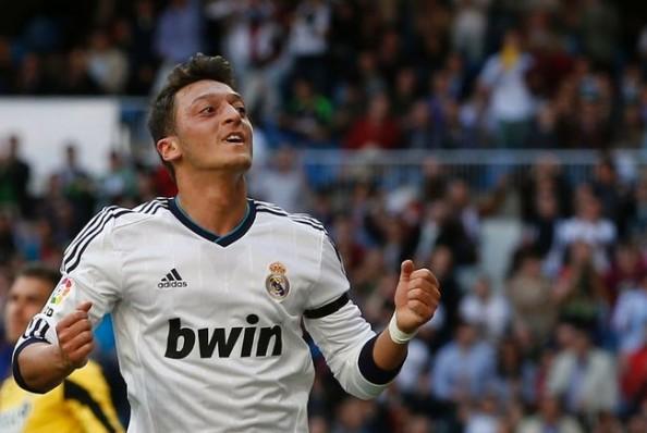 Mesut Ozil Happy