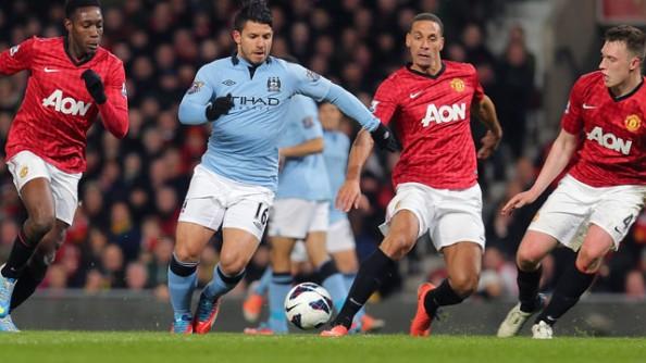 Sergio Aguero vs Manchester United