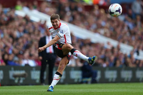 Steven Gerrard vs Aston Villa