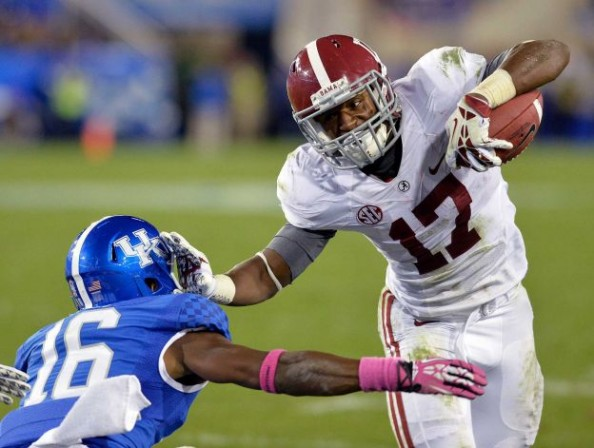Kenny Drake ran for 106 yards and two touchdowns as Alabama improved to 6-0, beating Kentucky 48-7