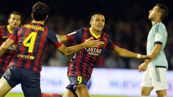 Alexis Sanchez3 e1383122806687 FC Barcelona   Cesc Fabregas Takes Over For Messi