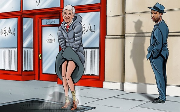 Arsene Wenger Marylin Monroe