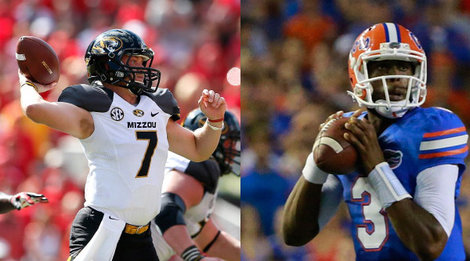 Both Florida with Tyler Murphy and Missouri with Matt Mauk will be starting backup quarterbacks in their SEC showdown.