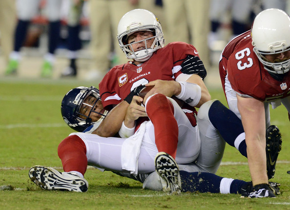 Carson Palmer has thrown 13 interceptions and has been sacked 20 times this season