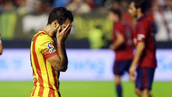 Cesc Fabregas has scored only 1 goals so far this season for Barcelona, and was quite ineffective as the front man in the 0-0 draw.